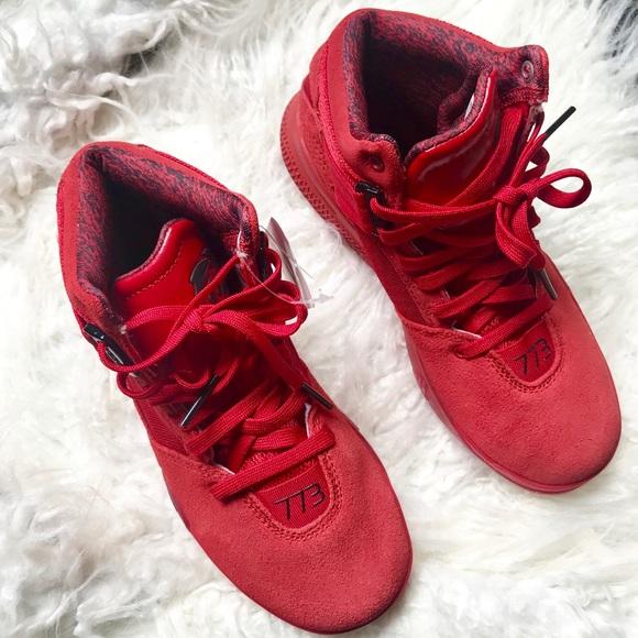 9e568e0048a7 Adidas D Rose 773 Red Boys Size 4